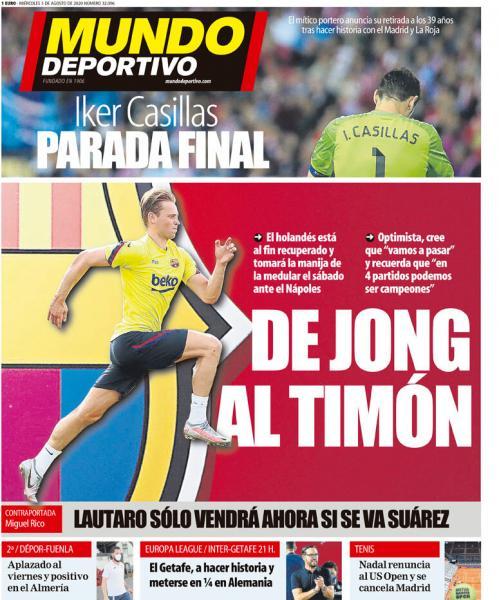 Газеты: Де Йонг у руля; Месси мечтает о 5 Лиге Чемпионов