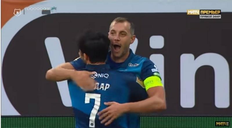 Дзюба и Азмун соревновались в результативности в матче «Зенита» против «Уфы»